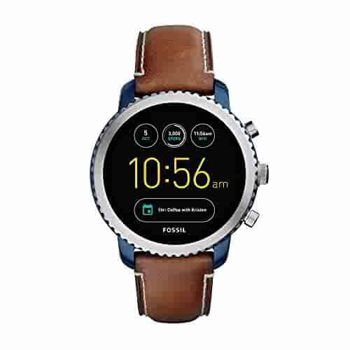Fossil Q Men's Gen 3 Explorist Stainless Steel Quartz Watch with Leather Strap, Brown, 22 (Model: FTW4004