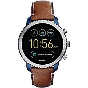 4c83b417a3ed Fossil Q Men s Gen 3 Explorist Stainless Steel and Leather Smartwatch