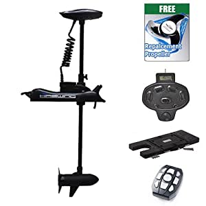 Haswing cayman 12v 55lbs bow mount electric for Aquos trolling motor review
