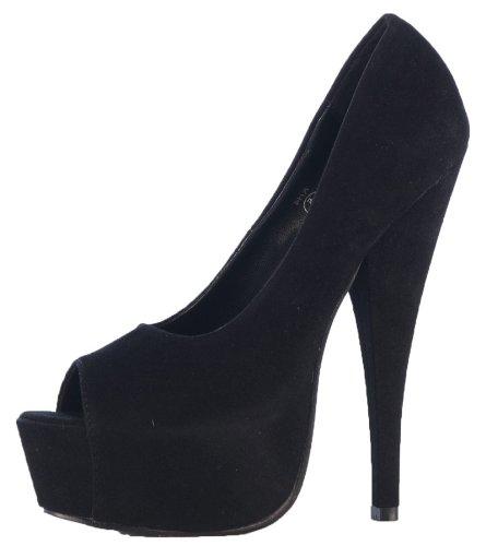 Black 8 Ladies Suede 3 Shoefashionista 7 5 Platform Bag 6 Shoes Size 4 Womens Boutique With Peeptoe High Heels qww1CAf