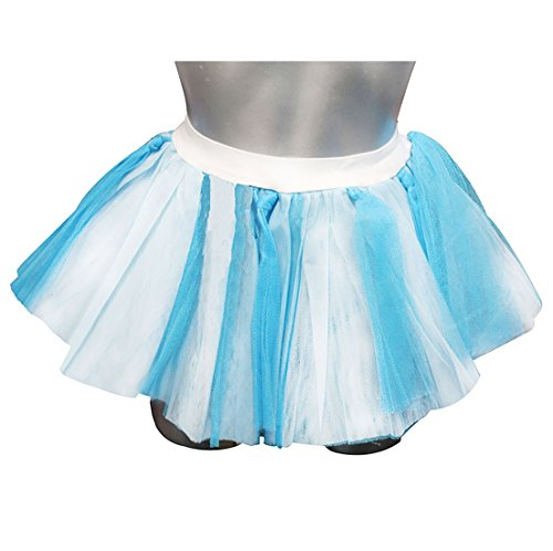 Islander Fashions Femmes Bleu et Blanc Feroza Tutu Mini Jupe Dames Poule Night Party Porter Jupe One Size Blue And White Feroza Skirt