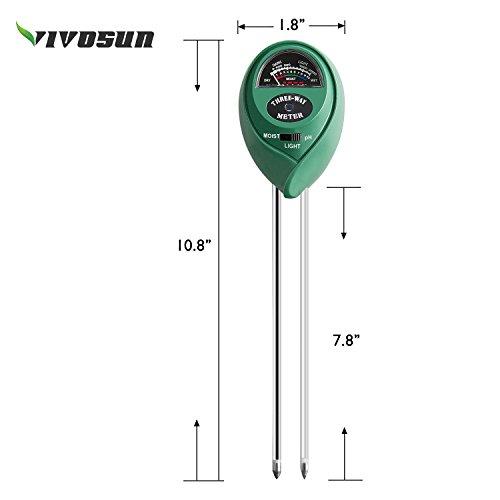 41XxsxHVfuL - VIVOSUN 3-in-1 Soil Moisture Light and pH Meter Plant Soil Tester