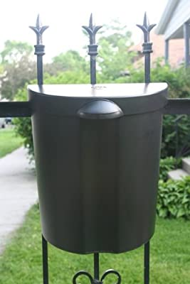 The Glam Can - Black Mounting Outdoor and Indoor Trash Can with lid