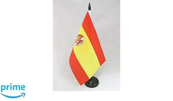 FRANCOIST SPANISH DESK FLAG SPAIN UNDER FRANCO 1938–1945 TABLE FLAG 5/'/' x 8/'/'
