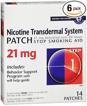 Habitrol Nicotine Transdermal System Step 1, 21mg Stop Smoking Aid - 14  each, Pack