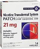 Habitrol Nicotine Transdermal System Step 1, 21mg Stop Smoking Aid - 14 each, Pack of 6
