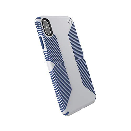 - Speck iPhone Xs Max Case, Protective Grip Ultra Thin Slim Hardshell Anti Scratch Presidio Cover Case - Grey/Blue