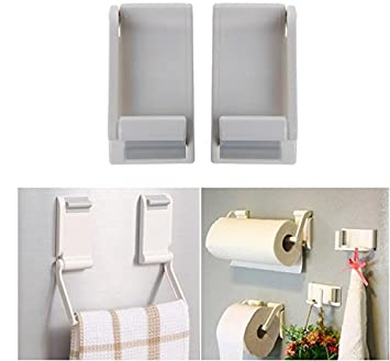 564feb71809 Lazynice Magnetic Paper Towel Oleopholic Roll Holder Storage Microwave Oven  Towel Rack Plastic Wrap Hang for Refrigerator Bathroom