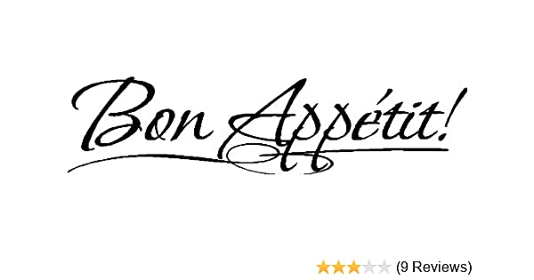 Bon Appetit! Kitchen Wall Decal Vinyl Wall Lettering Kitchen Decoration  Quote, Black