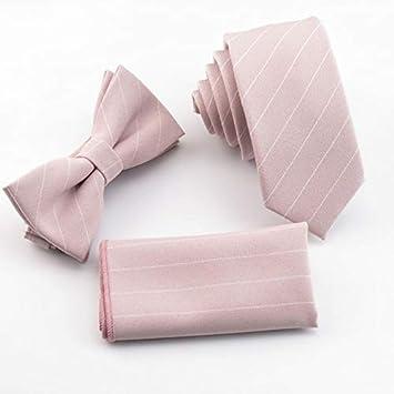 716f61c10381 Graven Light Pink Ties Set White Stripe tie in Men's Pale Pink Gravata Slim  Necktie for