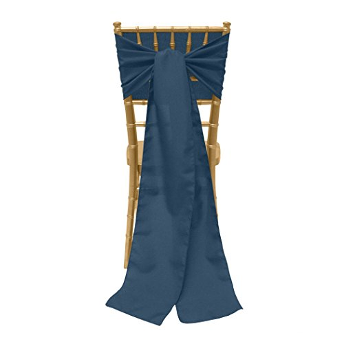 Wedgewood Bow - Ultimate Textile 8 x 100-Inch Polyester Chair Tie Sash Wedgewood Blue