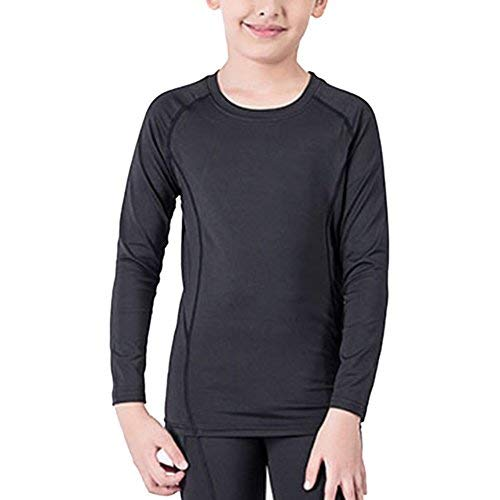 Lanbaosi Boys&Girls Long Sleeve Compression Soccer Practice T-Shirt (Measure For Measure As A Problem Play)