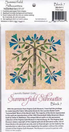 Summerfield Silhouettes Laser Cut Fusible Applique Kit - Block #7