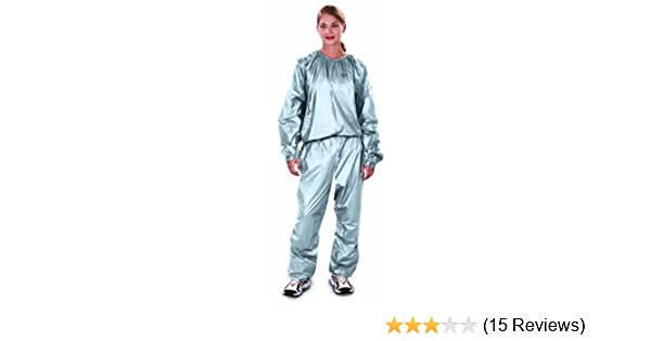 Amazon Com Everlast For Her Pvc Sauna Suit Silver One Size