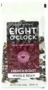 Eight O'Clock French Roast Whole Bean Coffee, 12-Ounce Bag (Pack of 4), Garden, Lawn, Maintenance