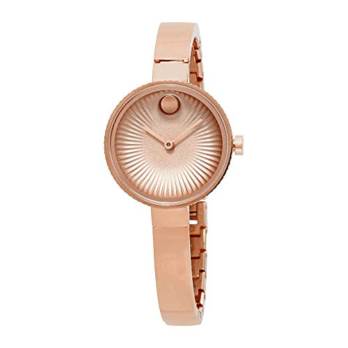 - Movado Womens Swiss Edge Rose Gold Stainless Steel Bangle Bracelet Watch 3680022