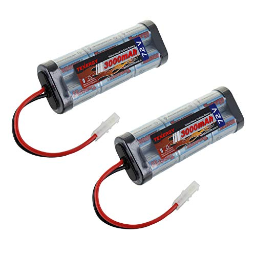 Tenergy 7.2V Battery Pack High Capacity 6-Cell 3000mAh NiMH Flat Battery Pack, Replacement Hobby Battery for RC Car, RC Truck, RC Tank, RC Boat with Standard Tamiya Connector ()
