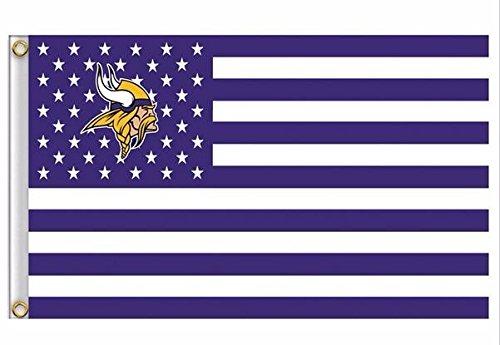 Minnesota Vikings Stars & Stripes FLAG 3 X 5 Feet Fan (Minnesota Star Stripes)