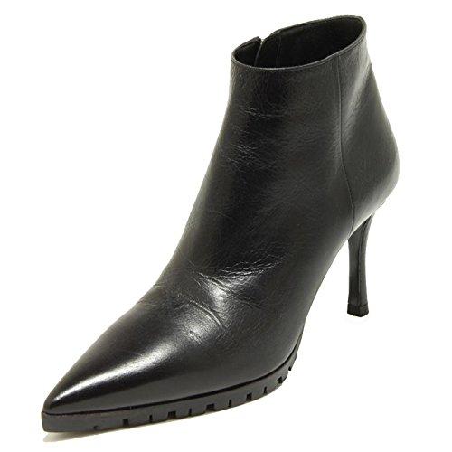 Miu WOM Tronchetto Miu Shine Boots Donna Stivale Vitello 2201G Nero Nero Shoes Scarpa Sq6pSxB