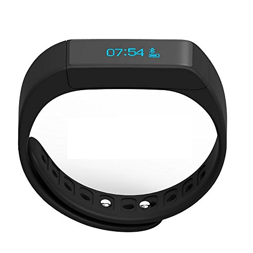 Fitness Tracker, Morefit M5 Plus Touch Screen Bluetooth Smart Bracelet Wristband (Black)