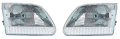 97 - 03 Ford F150 Headlight Headlamp Pair Set 97-02 Ford Expedition Both Driver and Passenger