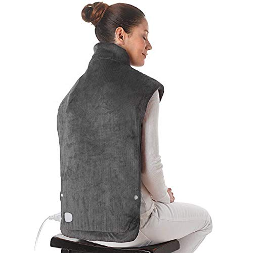 XXX-Large Electric Heating Pad for Neck & Shoulder Pain Relief, Heating Wrap with Auto Off, ETL Certified & FDA Registered, Fast Heating, 6 Temperature Settings, 25 x 32