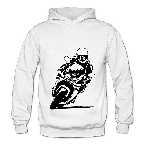 Lennakay Work Woman's Motorcycle Classic Hoddies White L