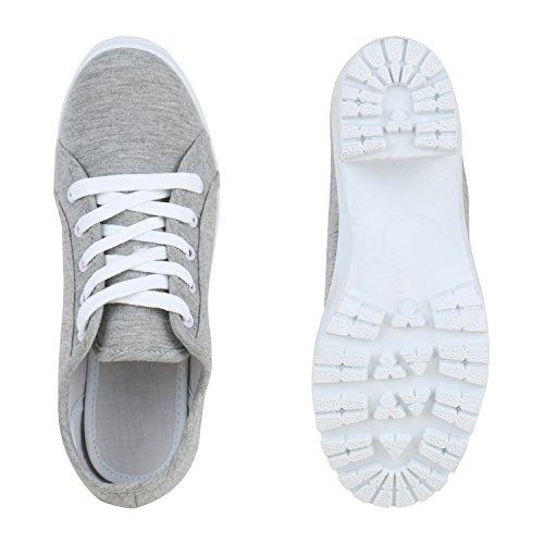 Stiefelparadies - Plataforma Mujer gris claro