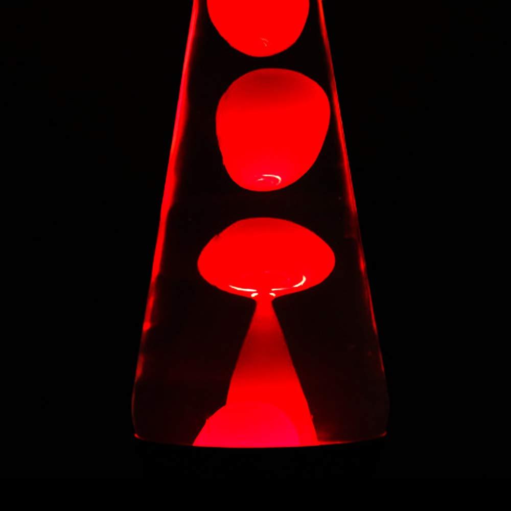 Roblue Lavalampe Glitterleuchte E14 25W inklusive Leuchtmittel Geschenk Weihnachten Retro Leuchte Glitzer Stimmungslicht