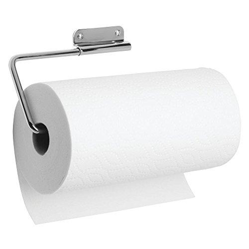 swivel kitchen paper towel holder wall mount under cabinet chrome