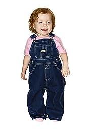 Key Premium Soft Washed Infant Denim Bib Overalls - Sizes 9MO-24MO