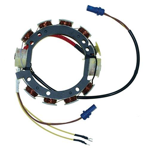 Johnson Evinrude 9 AMP 4 Cylinder Stator 85, 90, 100, 115, 140 (V4) Hp 1978 - 1984 Model CD4 WSM PWC 173-3672 OEM# 173-3104, 581830, 581865, 581867, 581987, 582016, see description (Omc Stator)