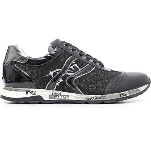 Nero Giardini A616191D/100, sneaker donna, nero