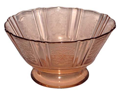 Vintage Depression Glass Pink 2 1/2 x 41/4 Inch Pedestal Sherbet Dessert Bowls Cups, Set of 2