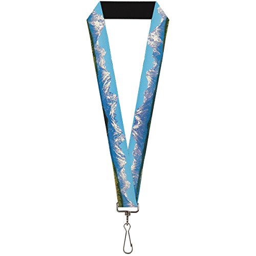 Buckle-Down Lanyard - Landscape Snowy Mountains