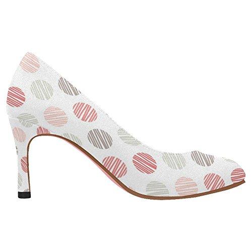 Zapatos De La Bomba Del Vestido Del Alto Talón De La Moda Clásica De Interestprint Mujeres Multi 10