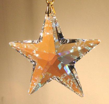 (Swarovski 40mm Aurora Borealis Crystal Star)
