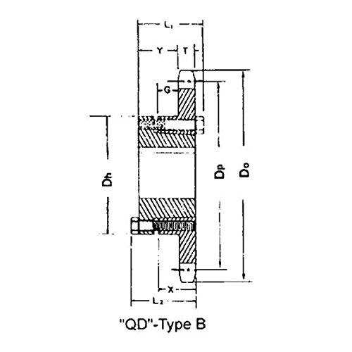 120F35 Sprocket Single Type QD