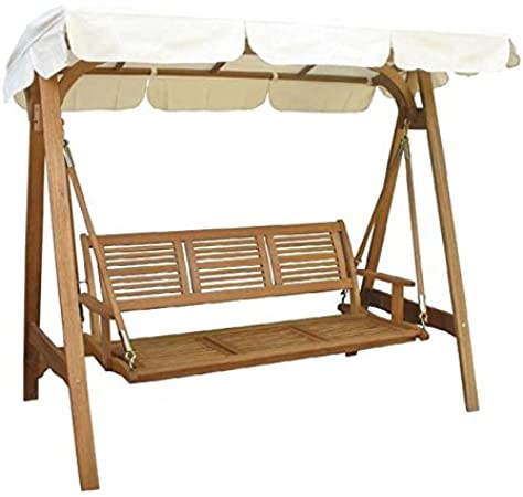 Balancín de jardín modelo Texas 3 plazas estructura de madera: Amazon.es: Jardín