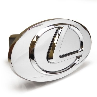 Lexus Chrome Logo Emblem Steel Tow Hitch Cover with Locking Pin License Frame Inc