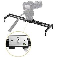 24 60cm Camera Slider, pangshi P60 DSLR Slider Dolly Track Gear Video Stabilizer for Digital SLR and Video Cameras