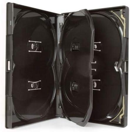 Amaray 10 x DVD Multi 6 Estuche – Multibox 6 vías en Negro para Contener 6 Discos en Embalaje Dragon Trading: Amazon.es: Hogar