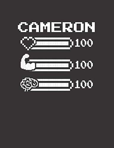 CAMERON: Pixel Retro Game 8 Bit Design Blank Composition Notebook College Ruled, Name Personalized for Boys & Men. Gaming Desk Stuff for Gamer Boys. ... Gift. Birthday & Christmas Gift for Men.