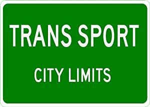 PONTIAC TRANS SPORT City Limit Sign - 10 x 14 Inches