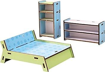 Haba 300506 - Little Friends - Puppenhaus-Möbel Schlafzimmer: Amazon ...