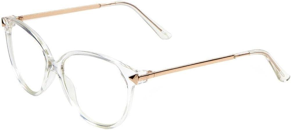 Transparent Cat Eye Horn Rimmed Sunglasses Clear Lenses