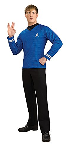 Star Trek Blue Movie Deluxe Shirt Lg Adult Mens Costume (Star Trek Movie Blue Shirt Adult Costume)