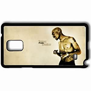 Personalized Samsung Note 4 Cell phone Case/Cover Skin 2pac Emotions Body Tattoo Watches Black WANGJING JINDA