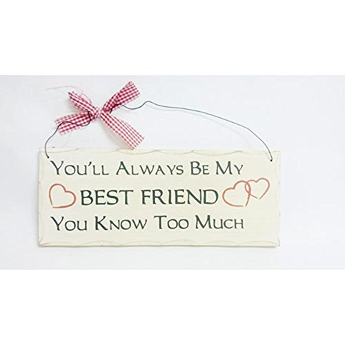 Wooden Always Friend Phrase Plaque product image