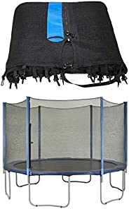 Upper Bounce UBNET-7.5-6-OS Trampoline Enclosure Safety Net Fits for 7.5-Feet Round Frame Using 6 Straight Pol